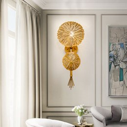 $enCountryForm.capitalKeyWord Australia - Nordic Gold Lotus Leaf Wall Lamp Led Mirror Wall Sconce Light for Bedroom Kitchen Stair Home Fixtures Industrial Decor Luminaire
