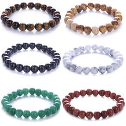 Precious stones bracelets online shopping - Hot Sale Yoga Gemstone mm Round Natural Semi Precious Stones Healing Power Crystal Beads Elastic Inch Bracelet Unisex Jewelry D74S A