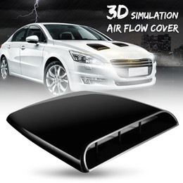 $enCountryForm.capitalKeyWord Australia - Auto Car 3D Simulation Air Flow Decorative Intake Hood Scoop Bonnet Vent Cover Black ABS Easy Installation Just For Decorative