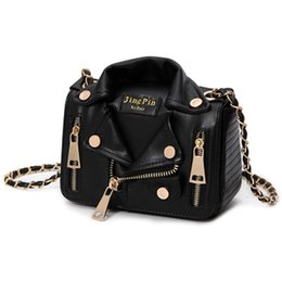 sequin bag clothing 2019 - European Hot Brand Designer Motorcycle Bags Women Clothing Shoulder Jacket Bags Messenger Bag Women PU Leather Handbags