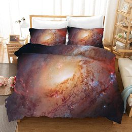 modern 3d bedding set UK - Bedding Set Universe Starry Duvet Cover With Pillowcases Single Twin Double Full Queen King Size