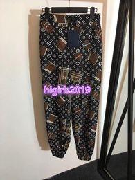 Custom Leggings Australia - women girls all-over monogram motif printed pyjama pant vintage trousers jogging tracksuit leggings high-end custom summer 19ss runway pants