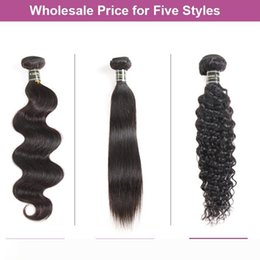 kinky hair extension factory NZ - A Factory Directly Sale Cheap Mink Brazilian Virgin Hair Straight Deep Body Water Wave Kinky Curly Human Hair Extensions Wholesale Hair