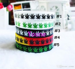 $enCountryForm.capitalKeyWord Australia - Hot Sale! 50pcs lot Maple Leaf Jamaica Bracelet, Classic Printed Hip Hop Silicone Wristband, Promotion Gift, Silicon Wristband