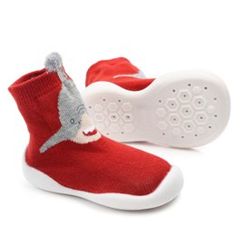 $enCountryForm.capitalKeyWord UK - Toddler Indoor Knee-high Sock Shoes Knitted Winter Thick Cotton Baby Girl Boy Sock with Rubber Soles Anti Slip Infant Cartoon Sock