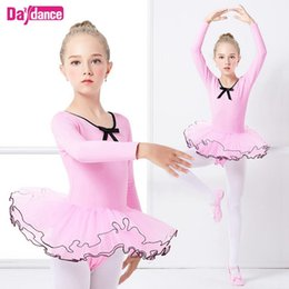 soft pink tutu UK - Girls Ballet Tutu Dress Dance Costumes Soft Tulle Skirted Ballet Dancing Clothes Leotards