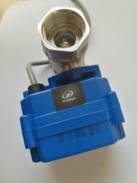 """Ac Control Valve Australia - YIDAY Motorized Ball Valve- 3 4"""" SS304 Ball Valve with Full Port, AC DC 9-24V and CR02 3 Wire"""