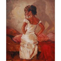 $enCountryForm.capitalKeyWord Australia - Women paintings Satin Embrace hand painted figure painting canvas art High quality
