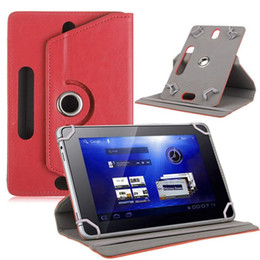 $enCountryForm.capitalKeyWord Australia - Universal 360 Rotating Adjustable PU Leather Stand Case With 3 Reserved Camera Hole For 7 inch Tablet PC MID GPS PSP