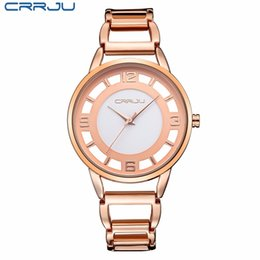 beea4b4e2c6 New Luxury Brand CRRJU Relogio Feminino Clock Women Rose Gold Bracelets  Watches Ladies Fashion Casual Watch Quartz Wristwatch