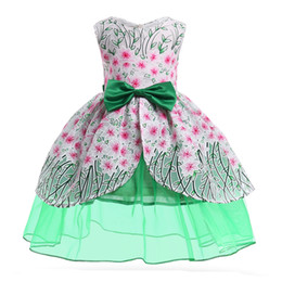 $enCountryForm.capitalKeyWord UK - Creative Dress Gauze Dress Kids Cosplay Magical Fairy Wings Costumes Cute Girl Bowknot Party Princess Dress for 2T-10 Years Old