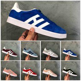 Denim Sneakers Girls Australia - 2018 Original Gazelle Vintage Casual Lovers Shoes Campus Pop Girl and Boy GAZELLE OG Flat Superstar Casual Sneakers