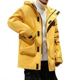 Chinese  Fashion Parka Men Plus Size M-5XL Casual Winter Thick warm Male Multi-pocket Medium-Long Hooded Jacket Coats Leisure Windbreaker manufacturers