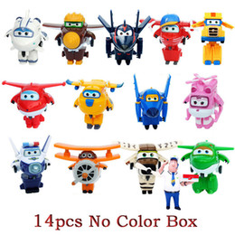 Super Airplane Action Figures Australia - Genuine Auldey Mini Super Wings Deformation Airplane Robot Toy Action Figures Super Wing Transformation Toys For Children Gift Y19051804