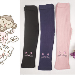 $enCountryForm.capitalKeyWord Australia - Girls leggings 2019 new autumn trousers wear spring and autumn thin section of the baby baby pants embroidered cotton children's tights