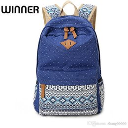 e71359e6f69d Crazy2019 Vintage School Bags For Teenagers Girls Schoolbag Large Capacity  Lady Canvas Dot Printing Backpack Rucksack Bagpack BookBag