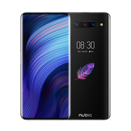 Wholesale Original Nubia Z20 4G LTE Cell Phone 6GB RAM 128GB ROM Snapdragon 855 Plus Android 6.42 inch Curved Dual Full Screen 48MP 4000mAh Fingerprint ID Smart Mobile Phone