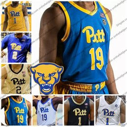 25c03cdb80e1 Custom Pittsburgh Panthers New Branding Basketball Jersey Any Name Number 1  Xavier Johnson 2 Trey McGowens 4 Jared Wilson-Frame PITT S-4XL