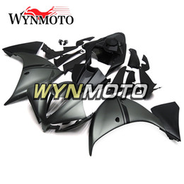 R1 Fairing Matte Black Australia - Matte Black Silver Motorcycle Fairings For Yamaha YZF 1000 R1 2012 2013 2014 ABS Plastic Injection r1 07 08 motorbike cowlings covers