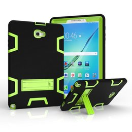 Samsung Tab 9.6 Case NZ - 50pcs For Samsung Galaxy Tab A 10.1 P580 P585 Shockproof Tablet Case Anti Dust Soft Silicon PC Hybrid Coque Stand Cover Cases