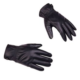 $enCountryForm.capitalKeyWord Australia - Hot! Black Men Winter Leather Motorcycle Full Finger Touch Screen Warm Gloves