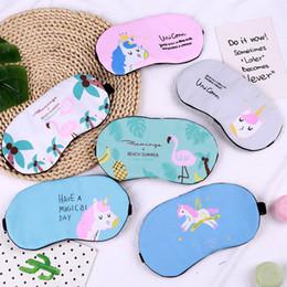 $enCountryForm.capitalKeyWord Canada - 2019 Hottest Eyewear Masks Relieving Fatigue and Shading Flamingo Unicorn Eye Shield Girls Heart Students Ice Eye Shield Masks DHL Free