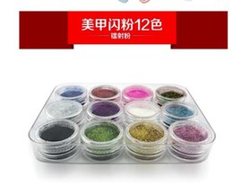 $enCountryForm.capitalKeyWord NZ - Mixed 12 45Colors Mini Powder Temporary Shimmer Glitter Diamond Painting for Decoration Shinning DIY Nail Tattoo Body Art Design