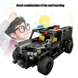 model vehicle kits NZ - RC Electric Armed Patrol Car Model Kit DIY Built-Up Remote Control Swat Vehicle RC Special Police Car Assembly Blocks Toys