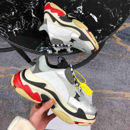 sneakers thick soles 2019 - DHL Free Fashion Luxury Designer Woman Shoes Man Casual Sneaker Mixed Colors Thick Sole Combination Bottom Lace Up Desig
