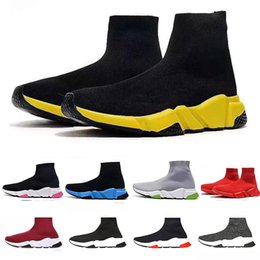 army green colour shoes 2019 - Hot Sale Socks Shoes Luxury Shoes Men Women Casual Shoes New Beatiful Colour Black Blue Botton Yellow Red Trianers Size