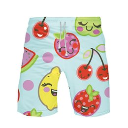 $enCountryForm.capitalKeyWord Australia - FREE OSTRICH 2019 New Summer Men's Fashion Casual Comfortable Beach Fruit Print Shorts Short Men's Workout Jogging Pants Men