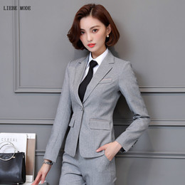 womens blazers for work Australia - Womens Spring Autumn 3 Three Piece Formal Suit Woman Formal Ladies Pants Suits for Women Blazer Shirt Skirt Pant Set Clothing