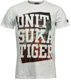 Tees Box Australia - Onitsuka Tiger Box Print Tee T-Shirt Mens Graphic Top White 121158 0001 EE171 Men Women Unisex Fashion tshirt Free Shipping