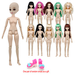 $enCountryForm.capitalKeyWord NZ - 1 3 BJD Dolls Large 60cm Doll with Beautiful Hair Head Female Body Moveable 22 Joints 3D Real Eyes DIY Nude Body Toys For Girl