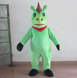 Wholesale pony costumes resale online - 2019 Hot sale green colour horse mascot costume pony mascot suit for adults to wear for sale