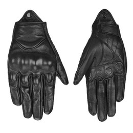 Leather Motocross Gloves Australia - Hot sale Motorcycle Gloves Leather Touch Screen Moto Glove Full Finger moto Men Electric Bike Motocross Protective Gear Cycling Bike D-01