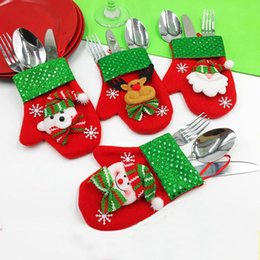 $enCountryForm.capitalKeyWord Australia - Santa Hat Reindeer Christmas New Year Pocket Fork Knife Cutlery Holder Bag Home Party Table Dinner Decoration Tableware 62418