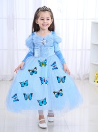 $enCountryForm.capitalKeyWord Australia - 1pcs 2019 Girls Cinderella Long Sleeve Princess Dress Kids Easter Halloween Cosplay costumes Clothing Children Top Rhinestone Formal Gowns
