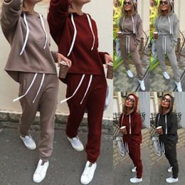 Wholesale woman lounge pants for sale – dress Retro Fashion Casual Women Clothes Set Long Seleeve Hoodies Sports Tops Pants Tracksuit Sweatshirt Lounge Wear Casual Suit