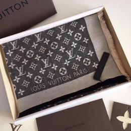 $enCountryForm.capitalKeyWord Australia - Fashion Scarf Letter Pattern Women Scarf Silk Cotton Designer Scarf Shawl Ladies Spring Scarves Size 140x140cm