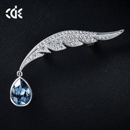 $enCountryForm.capitalKeyWord Australia - Wedding Party beaded pearl gift woman lady diamond jewelry Brooches for bride acting initiation graduation CDE-1326