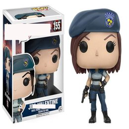 $enCountryForm.capitalKeyWord Australia - Pretty gift FUNKO POP NEW Resident Evil 10cm JILL VALENTINE Action Figure 155# cool lady model gift kids toy