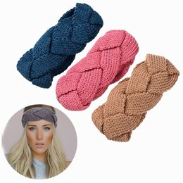 Wholesale Q MISM Girl Warm Woven Twist Headbands Autumn Winter Warm Elastic Hair Bands Solid Wool Turban Beauty Hair Accessories New