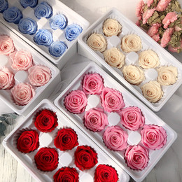 Wholesale roses forever for sale – custom 8pcs Preserved Eternal Roses Heads In box High Quality Dry Natural Fresh Flowers Forever Rose womens mothers Valentine s Gift
