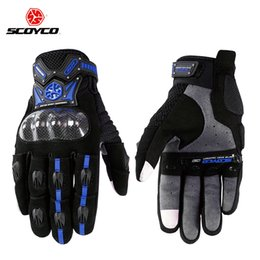 Scoyco Racing Gear Australia - otocicleta guantes Motorcycle Scooter Touch Gloves Carbon Fiber Protective Racing Gears Silicone Motos Motocicleta Men SCOYCO M-20 Guan...