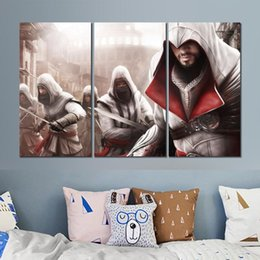 $enCountryForm.capitalKeyWord UK - Canvas prints paintings 3 sets assassins creed picture for living room wall decor