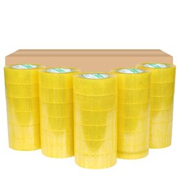 4 rouleaux Carton d'étanchéité clair Emballage / Expédition / Boîte TAPE- 2 x 33 2inch Mil- Yards Film Office Ruban adhésif Ruban cadeau Strapping en Solde