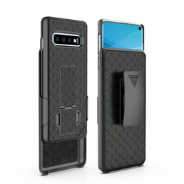 rugged belt clip 2019 - Weave Shockproof Case For Iphone XS MAX XR X 10 8 7 Galaxy S10 S10e Note 9 8 S9 J7 2018 Rugged Hybrid Hard PC Clip Belt