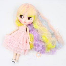 neo toys Australia - wholesale Blyth ICY Doll 30cm joint body Cute multi-color curly hair matte face with eyebrows Lip gloss Neo bjd doll Gift toy