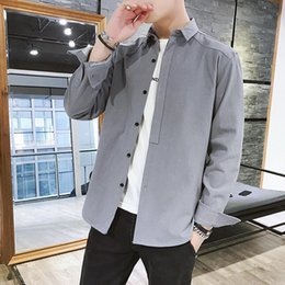 $enCountryForm.capitalKeyWord Australia - 2019 Spring New Fashion High quality leisure home Newest Mens Shirt Candy Slim Fit Luxury Casual Stylish Dress Shirts 4 Colours Plus Sizes